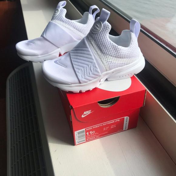 NIB Nike Presto Extreme Toddler White fd87d868e